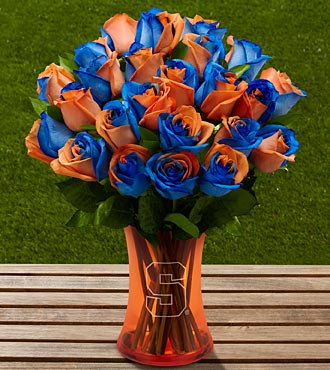 The FTD® Syracuse University® Orange® Rose Bouquet - 24 Stems - VASE INCLUDED