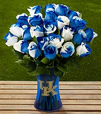 The FTD&reg; University of Kentucky&reg; Wildcats&reg; Rose Bouquet - 24 Stems - VASE INCLUDED