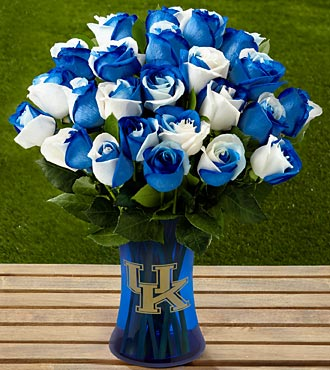 The FTD® University of Kentucky® Wildcats® Rose Bouquet - 24 Stems - VASE INCLUDED
