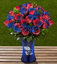 The FTD® University of Kansas® Jayhawks® Rose Bouquet - 24 Stems - VASE INCLUDED