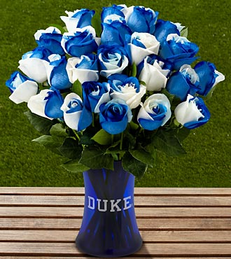 The FTD&reg; Duke University&reg; Blue Devils&reg; Rose Bouquet - 24 Stems - VASE INCLUDED