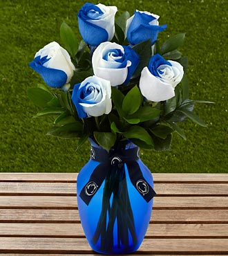 The FTD&reg; Penn State&reg; Nittany Lions&reg; Rose Bouquet - 6 Stems - VASE INCLUDED