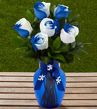 The FTD&reg; University of Kentucky&reg; Wildcats&trade; Rose Bouquet - 6 Stems - VASE INCLUDED