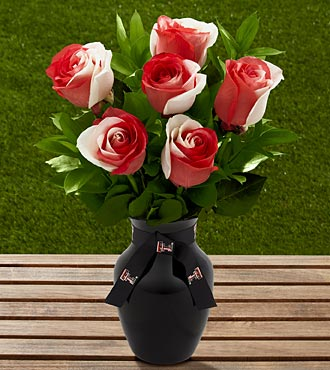 The FTD&reg; Texas Tech University&reg; Red Raiders&trade; Rose Bouquet - 6 Stems - VASE INCLUDED