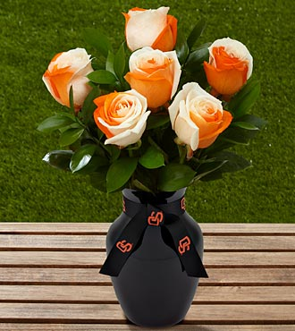 The FTD&reg; Oregon State University&reg; Beavers&trade; Rose Bouquet - 6 Stems - VASE INCLUDED