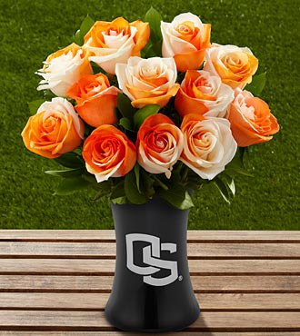 The FTD® Oregon State University® Beavers™ Rose Bouquet - 12 Stems - VASE INCLUDED