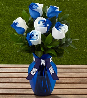 The FTD® University of Connecticut® Huskies™ Rose Bouquet - 6 Stems - VASE INCLUDED