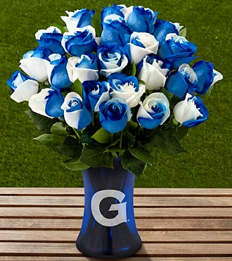 The FTD&reg; Georgetown University&reg; Hoyas&reg; Rose Bouquet - 24 Stems - VASE INCLUDED