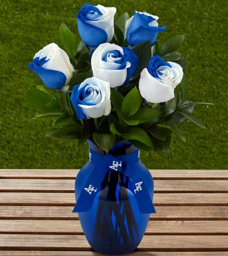 The FTD® US Air Force Academy™ Fightin' Falcons™ Rose Bouquet -6 Stems-VASE INCLUDED