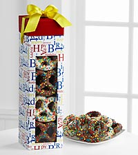 Happy Birthday Chocolate Covered Pretzels