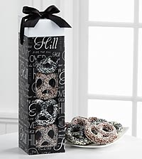 Over the Hill Chocolate Covered Birthday Pretzels