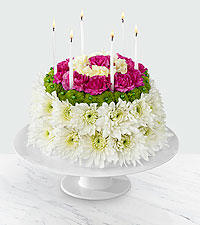 The Wonderful Wishes™ Floral Cake by FTD ® - CAKE PLATE INCLUDED