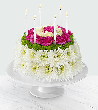 The Wonderful Wishes&trade; Floral Cake by FTD&reg; - CAKE PLATE INCLUDED