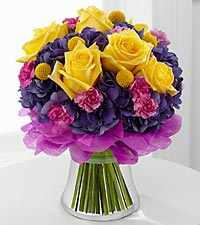 The Colors Abound&trade; Bouquet by FTD&reg; - VASE INCLUDED