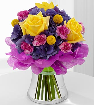 The Colors Abound™ Bouquet by FTD® - VASE INCLUDED