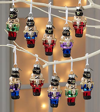 Plastic Christopher Radko Nutcracker Ornaments