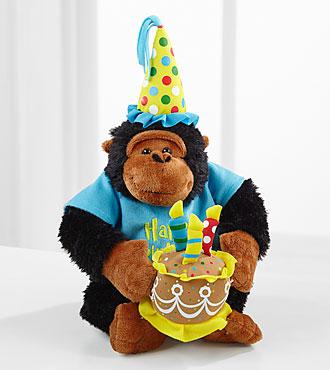 Happy Birthday Plush Monkey