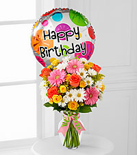 The Birthday Cheer™ Bouquet by FTD ® - VASE INCLUDED