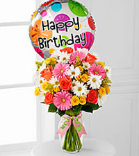 The Birthday Cheer&trade; Bouquet  by FTD&reg; - VASE INCLUDED