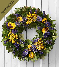 Thoughtful Expressions Dried & Preserved Pansy Wreath