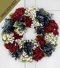 Land of the Free Dried & Preserved Patriotic Wreath