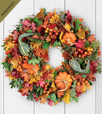 Pick of The Patch Dried & Preserved Pumpkin Harvest Wreath