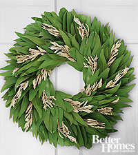 The FTD ® Sage Advice Culinary Wreath with Recipe Cards by Better Homes and Gardens ®.