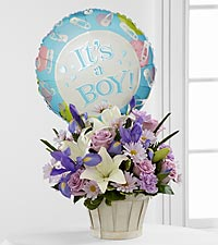 The Boys Are Best!™ Bouquet by FTD ® - BASKET INCLUDED