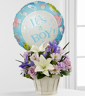 The Boys Are Best!™ Bouquet by FTD® - BASKET INCLUDED