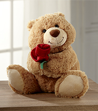 Sweet as a Rose Valentine 's Day Plush Bear