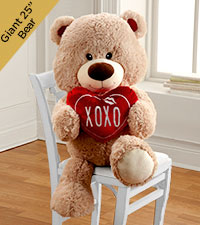 XOXO Hugs & Kisses Plush Bear