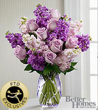 The FTD ® Sweet Devotion™ Bouquet by Better Homes and Gardens ® -CUT GLASS VASE INCLUDED