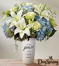 DaySpring ® In God 's Care™ Bouquet by FTD - Blue & White