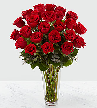The Long Stem Red Rose Bouquet by FTD&reg; - VASE INCLUDED