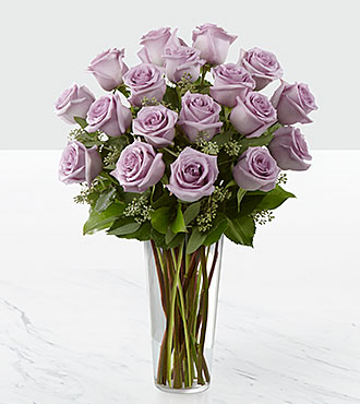 The Lavender Rose Bouquet By Ftd 174 Vase Included
