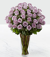 The Lavender Rose Bouquet by FTD® - 36 Stems - VASE INCLUDED