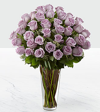 The Lavender Rose Bouquet by FTD&reg; - 36 Stems - VASE INCLUDED