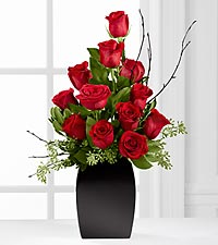The Contemporary™ Rose Bouquet by FTD ® - VASE INCLUDED