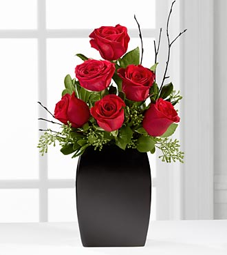 The Contemporary&trade; Rose Bouquet by FTD&reg; - VASE INCLUDED