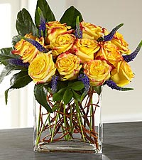 The FTD ® Sun Blushed™ Rose Bouquet