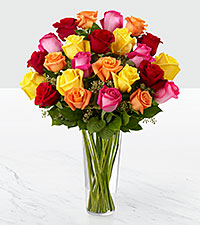 The Bright Spark&trade; Rose Bouquet by FTD&reg; - VASE INCLUDED