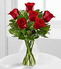 The Simply Enchanting&trade; Rose Bouquet by FTD&reg; - VASE INCLUDED