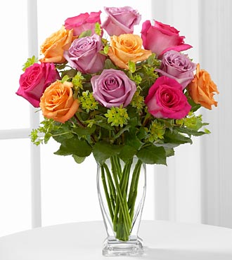 The Pure Enchantment&trade; Rose Bouquet by FTD&reg; - VASE INCLUDED