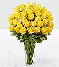 The Yellow Rose Bouquet by FTD ® - 36 Stems - VASE INCLUDED