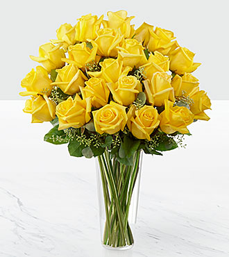 The Yellow Rose Bouquet by FTD&reg; - VASE INCLUDED