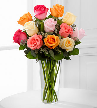 The Graceful Grandeur&trade; Rose Bouquet by FTD&reg; - VASE INCLUDED