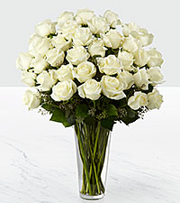 The White Rose Bouquet by FTD &reg; - 36 Stems - VASE INCLUDED