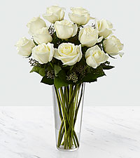 The White Rose Bouquet by FTD ® - VASE INCLUDED