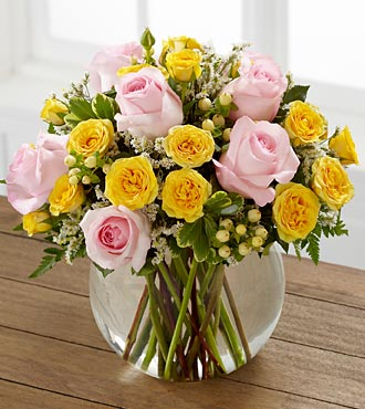 The Soft Serenade&trade; Rose Bouquet by FTD&reg; - VASE INCLUDED