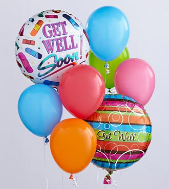 Get Well Ballon Bunch